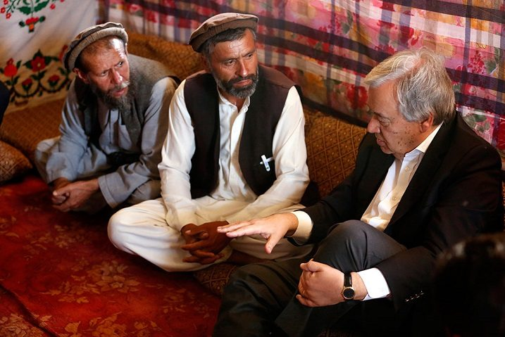 Secretary-General António Guterres is visiting Afghanistan to show solidarity with the Afghan people. Photo: UNAMA/Fardin Waezi