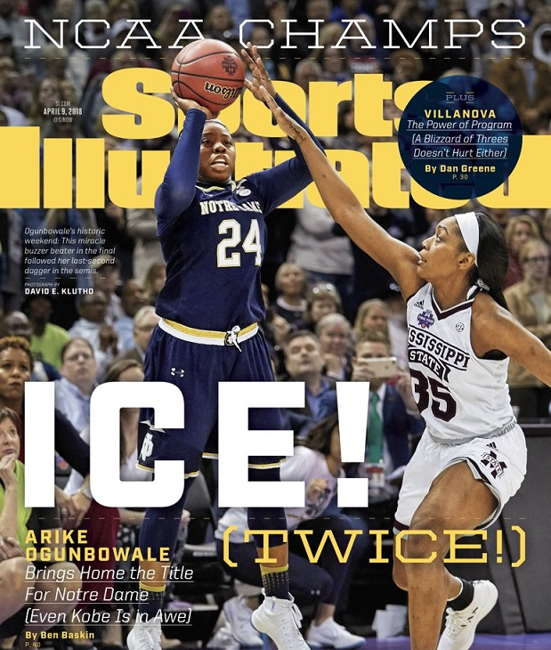 Notre Dame's Arike Ogunbowale on the cover of Sports Illustrated