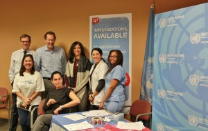 Staff of UNIC, UNDP, and IOM