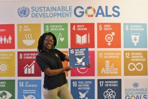 Diamond with SDG 16