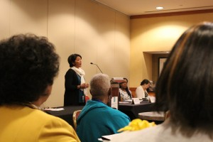 Vijaya Souri at the 28th Annual Conference of the Women's Missionary Society of the African Methodist Episcopal Church